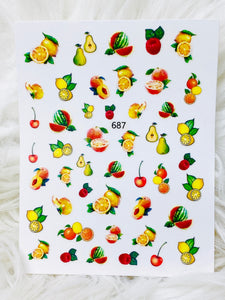 "SHINE #F67  ""FRUITY-STICK iT""- Vinyl Stickers"