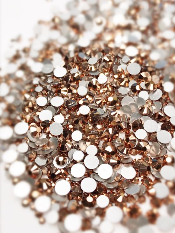 SHINE- Rose Gold- Mix Foil Back Crystal Rhinestones #159