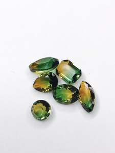 SHINE- Topaz & Green -TO Pointed Back Crystals #52