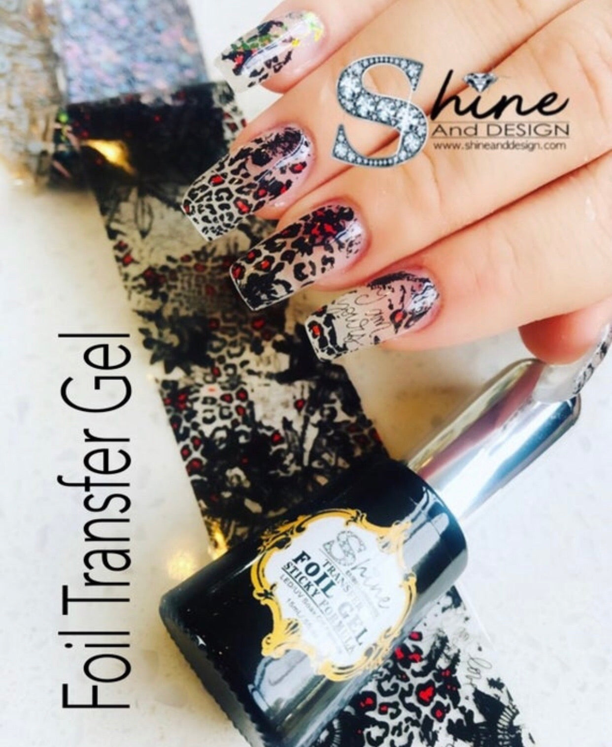SHINE Foil Gel- Used for Transfer Designs Nail Art