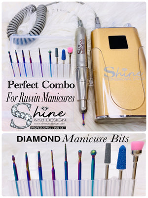 SHINE- Russian Manicure Diamond Bits Set