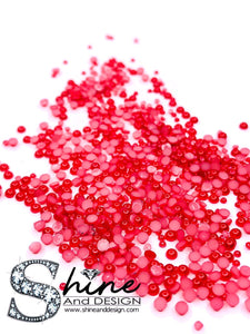 SHINE- Red Coral -MINI Flat Pearls Collection