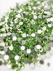 SHINE- Light Green-- Mix Foil Back Crystal Rhinestones #144