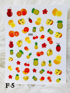 "SHINE- ""STICK iT""-Vinyl Self Adhesive Decal #F-2/ FRUITY TOOTIE COLLECTION"