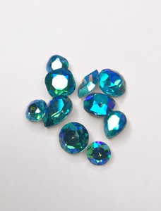 SHINE- Aquamarine SI - Mix Pointed Back Crystals #221