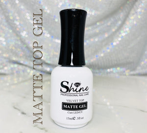 "SHINE- Matte Top Gel ""Velvety"""