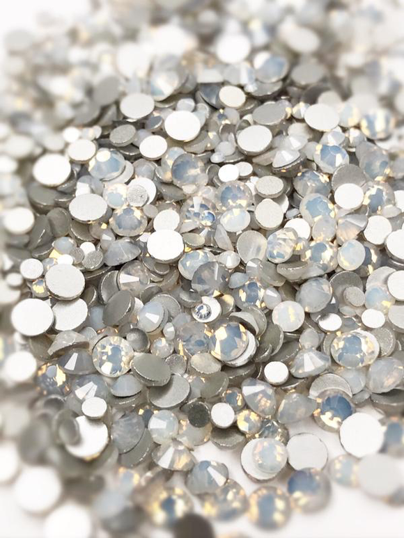 SHINE- White Opal- Mix Foil Back Crystal Rhinestones #164