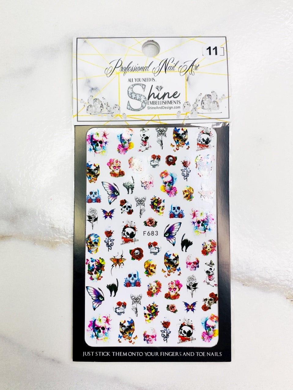 "SHINE #11- STICK iT""-Vinyl Stickers- Skulls"