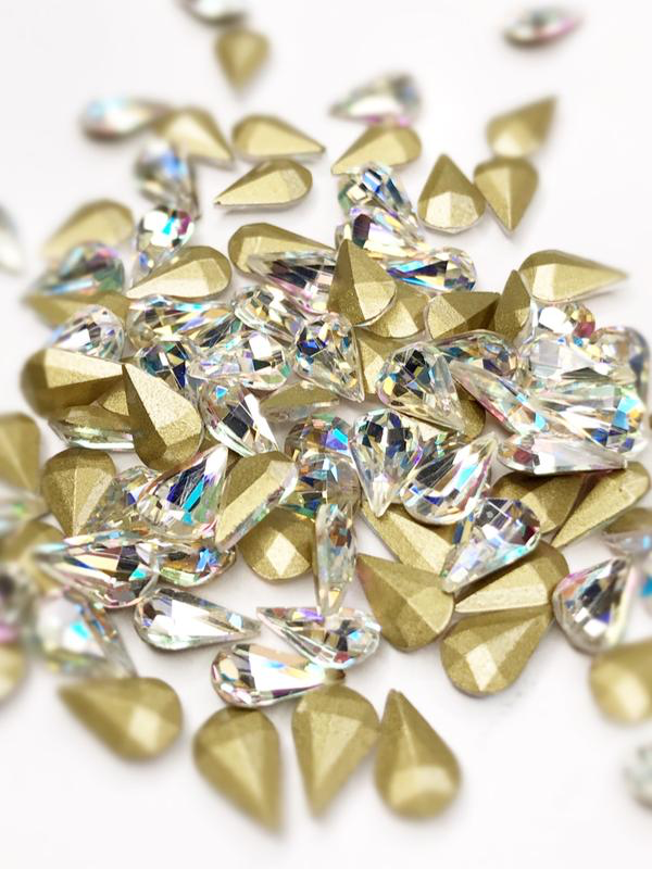 SHINE- Crystal AB- 3D Rhinestones- 5*8mm- DROP/ #41-AB