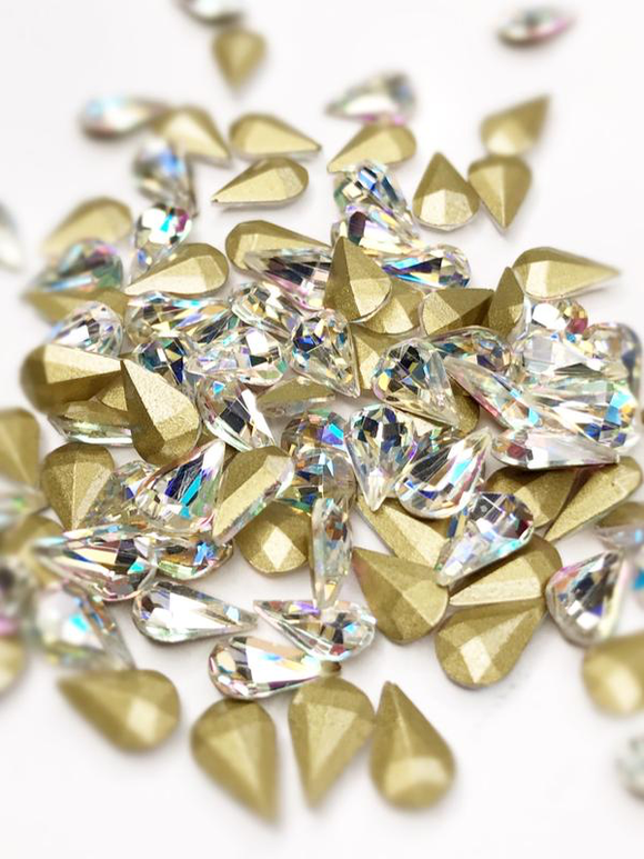 SHINE- Crystal AB- 3D Rhinestones- 4*6mm- DROP/ #39-AB