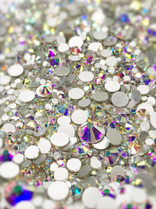 SHINE- Crystal AB- Mix Foil Back Crystal Rhinestones #161