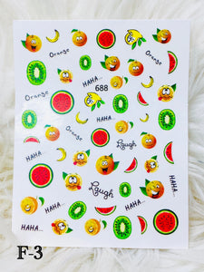 "SHINE- ""STICK iT""-Vinyl Self Adhesive Decal #F-4/ FRUITY TOOTIE COLLECTION"