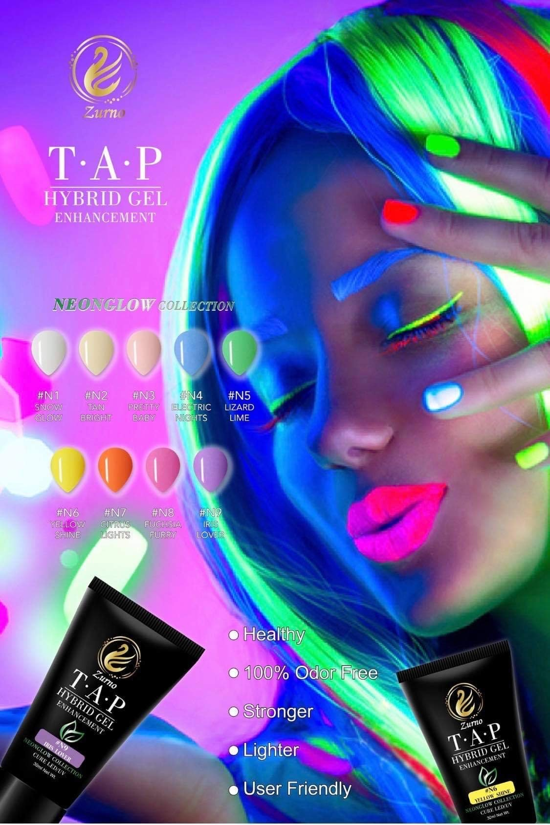 T.A.P- #N4 Electric Nights- 30ml HYBRID GEL / NEONGLOW Collection