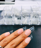 SHINE- Long Stiletto Clear Tips- 500pcs- Box Set