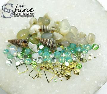 "SHNE-""By The Sea"" Crystals & Shell Decorations-#S4"
