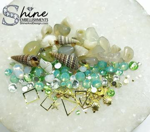 """By The Sea"" Crystals & Shell Decorations-#S4"