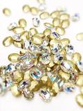 SHINE- Crystal AB- 3D Rhinestones- 8x10mm- OVAL/ #38-AB