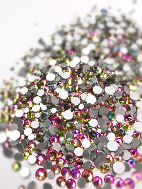 SHINE- Rainbow- Mix Foil Back Crystal Rhinestones #156