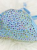 SHINE - Full Bling Crystal ~ Reusable Face Mask Protection (Sky Blue)