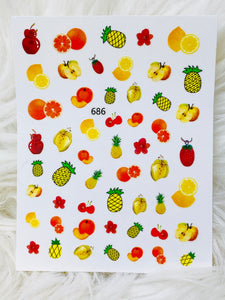 "SHINE #F686  ""FRUITY-STICK iT""- Vinyl Stickers"