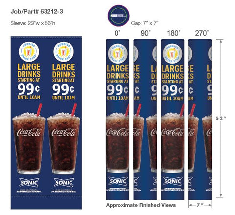 Coca-Cola-Sonic .99 cent/10 am drink Wrapcover