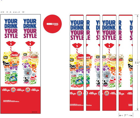 Burger King, Coca-Cola Freestyle Wrapcover Sock/Minimum order of 15.