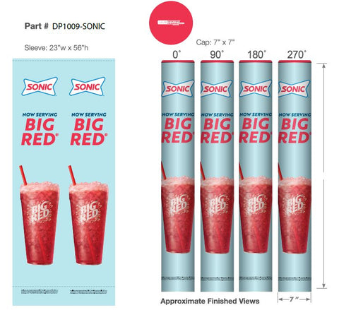 Sonic-Big Red Drink Wrapcover