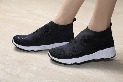 Jootavoota Women Black Sport Shoes (RP-19RP-27)