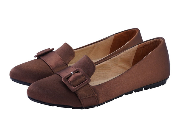 Jootavoota Women Brown Flat Ballerina (148)