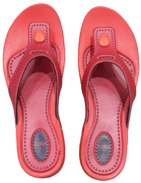 Adda Women Red Slippers (Touch-1)