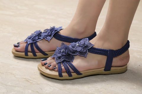 Jootavoota Girl's Blue Sandals (3328-36)