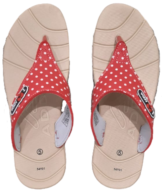Adda Women Beige Red Slippers (Awesome)