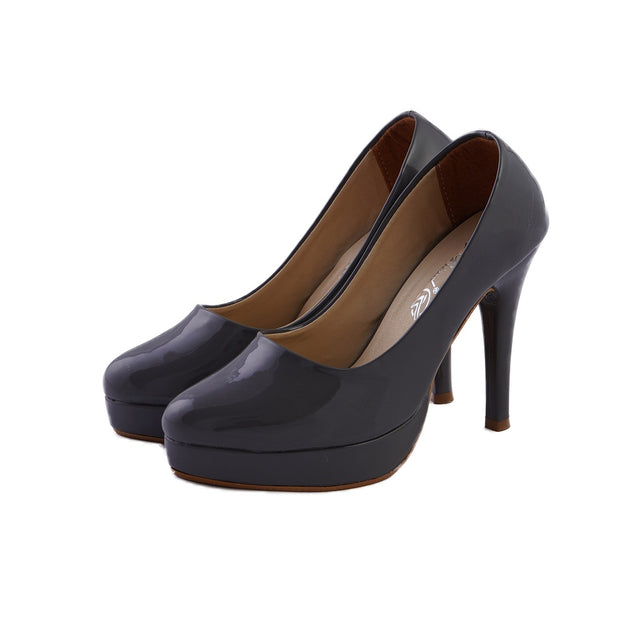 Jootavoota Women Dark Grey Heels Belly (987)