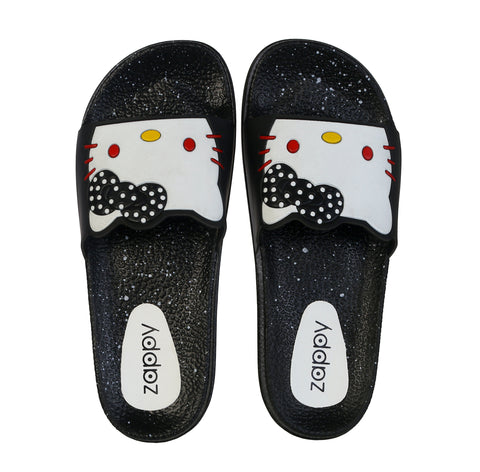 Jootavoota Woman Black White Slipper (Catty)