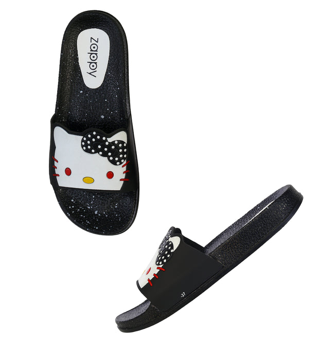 Jootavoota Woman Black White Slipper (Katty)
