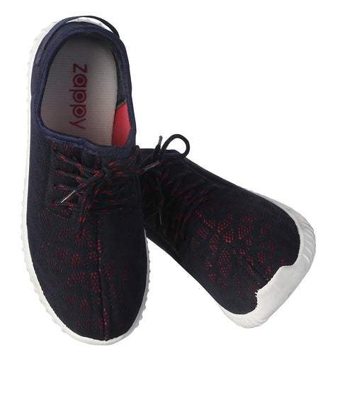 JOOTAVOOTA Women's & Girls | Slip on Casual Shoes | Breathable | Running | Walking Flat Shoes. (Navy Color)