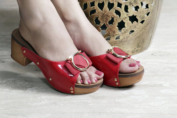 Jootavoota Women Red Wedges (B-788)