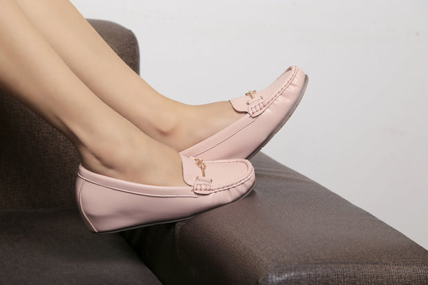 Jootavoota Women Pink Loafers (611)