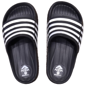 Adda Kids Black Slippers (K.Runner)