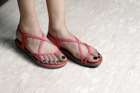Jootavoota Women Red Flat(JV2)