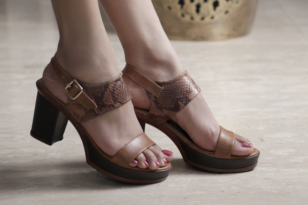 Jootavoota Women Brown Wedges (R-2058)