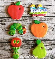 Decorated Sugar Cookies Hungry Caterpillar