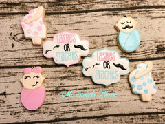 Lashes or Stashes - Gender Reveal Party / Gender Neutral Baby Shower