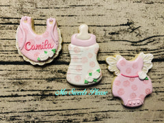Baby Girl - Bottle, Onesie, Bib