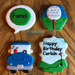 Golf Birthday Cookies
