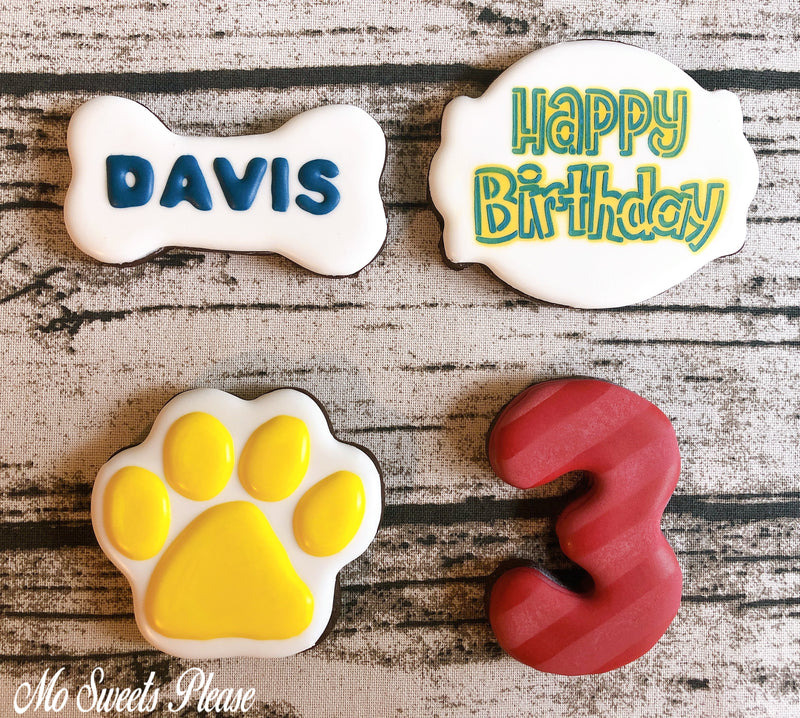 Paw Patrol Birthday Personalized Decorated Sugar Cookie