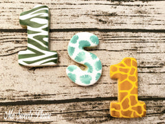 Decorated Sugar Cookie Animal Print Zebra Giraffe Tropical