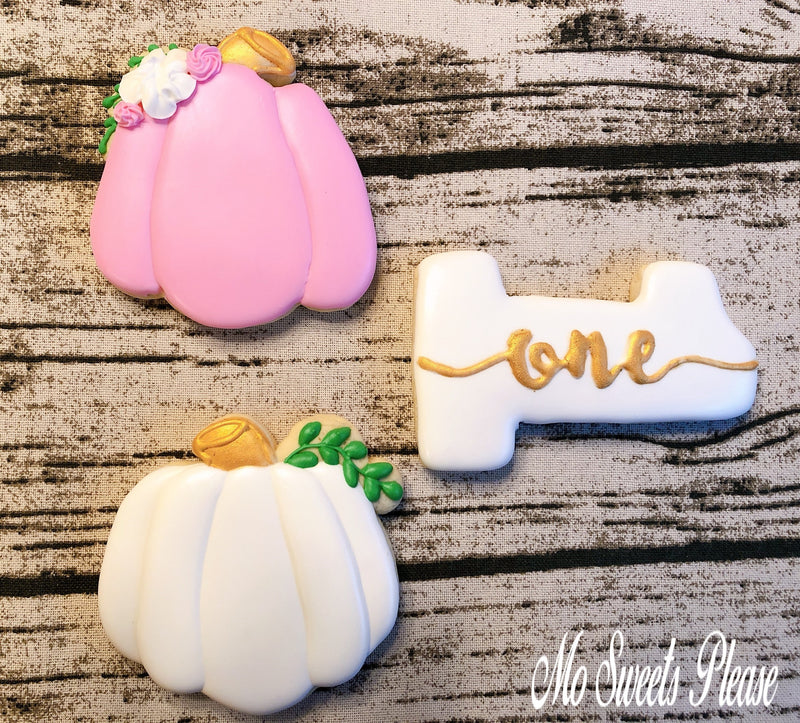 Decorated Sugar Cookie Pumpkin Birthday