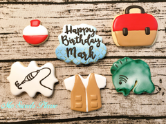Fishing Birthday Cookies