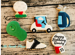 Golf Birthday Cookies 2